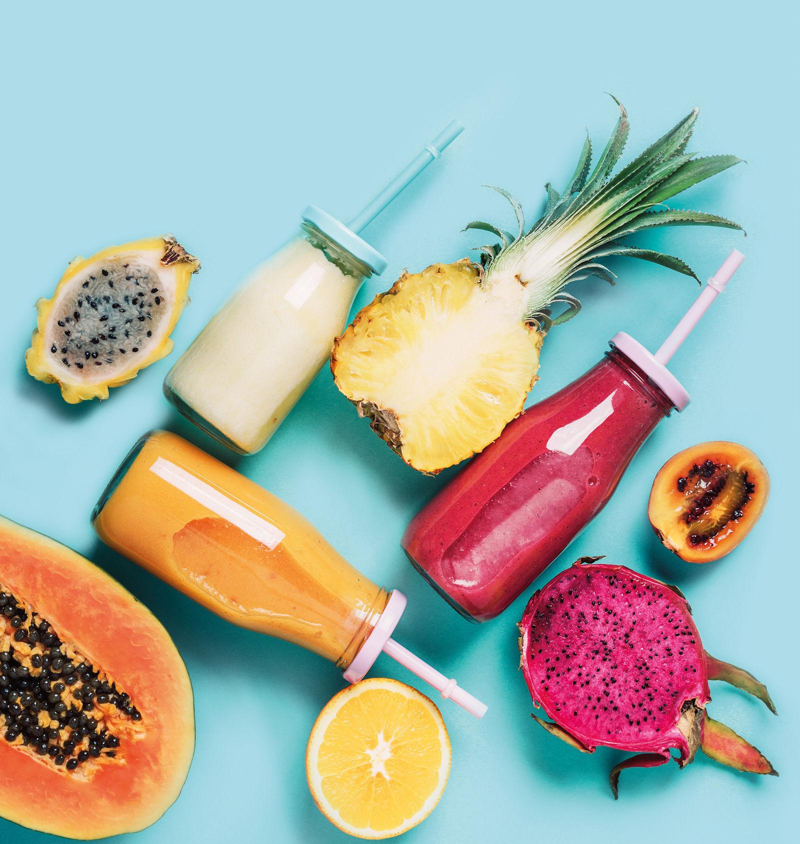 Obst und Annanas Bild
